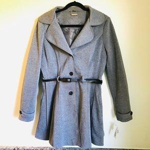 NWT Jou Jou Gray Belted Dress Coat
